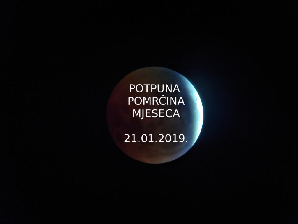 Potpuna pomrčina Mjeseca 21.01.2019.