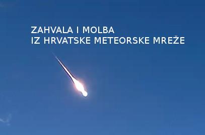 Zahvala i molba iz Hrvatske meteorske mreže