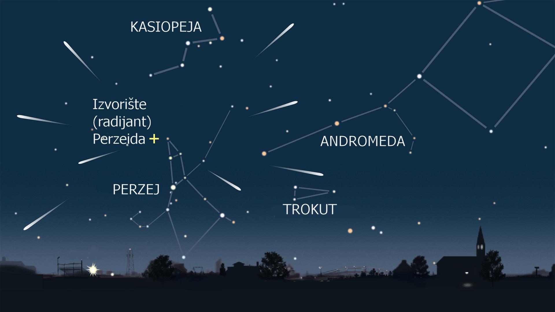 Maksimum aktivnosti meteorskog roja Perzeidi biti će u noći 12. na 13.08.