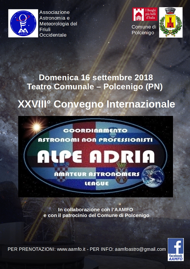 Najava: 28. Susret astronomskih društava Alpe-Adria (Polcenigo, Italija)