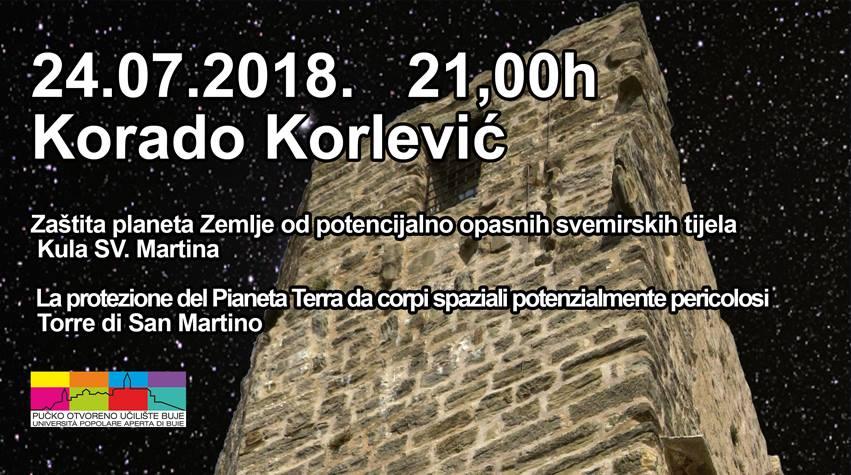 Buje (24.07.2018.) - Korado Korlević: Zaštita planeta Zemlje od potencijalno opasnih svemirskih tijela
